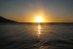 Coucher du soleil des Fidji Image libre de droits