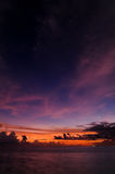 Coucher du soleil des Maldives Image stock
