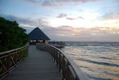 coucher du soleil des Maldives Photo libre de droits