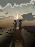 Coucher du soleil deux Photo libre de droits