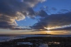 Coucher du soleil - Doolin - république d'Irlande Photographie stock libre de droits