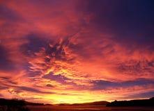 Coucher du soleil dramatique Photographie stock libre de droits