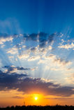 Coucher du soleil dramatique quelque part en Turquie Images stock