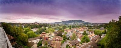 Coucher du soleil du Bundeshaus, Berne, Suisse photos libres de droits