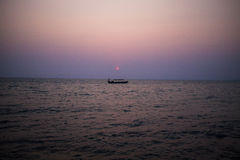 coucher du soleil du Cambodge Photographie stock