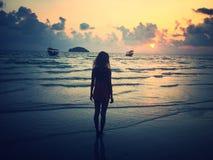 coucher du soleil du Cambodge Photos stock