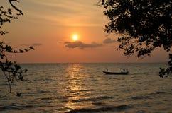 coucher du soleil du Cambodge Images stock