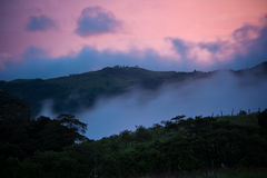 Coucher du soleil du Costa Rica Photos stock