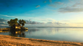 Coucher du soleil du Fiji Image libre de droits