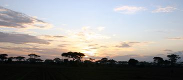 Coucher du soleil du Kenya Image stock