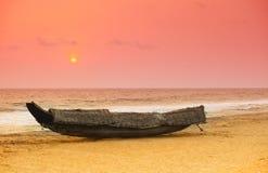 Coucher du soleil du Kerala Photos stock