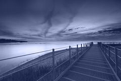 Coucher du soleil du lac Érié Image stock