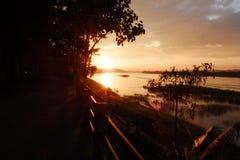 Coucher du soleil du lac Photo libre de droits