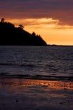 Coucher du soleil du Madagascar Images libres de droits