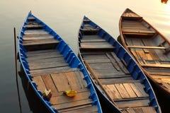 Coucher du soleil du Mekong Photographie stock