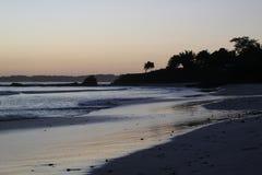 Coucher du soleil du Mexique Images stock