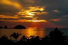 Coucher du soleil du Mexique photos libres de droits