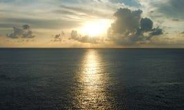coucher du soleil du Mexique Images libres de droits