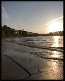 Coucher du soleil du Mississippi Image libre de droits