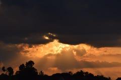 Coucher du soleil du Missouri Images stock