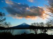 Coucher du soleil du mont Fuji Photos libres de droits