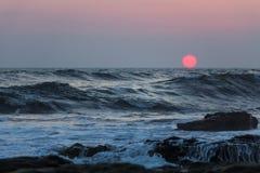 Coucher du soleil du Nicaragua Image libre de droits