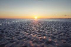 Coucher du soleil du nord Photo stock