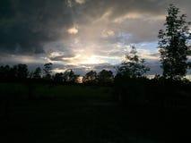 Coucher du soleil du nord photos stock