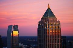 Coucher du soleil du nord d'Atlanta Image stock