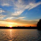 Coucher du soleil du nord de lac wisconsin Photographie stock