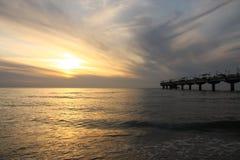 Coucher du soleil du pilier Photo libre de droits