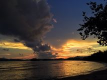 coucher du soleil du soleil de ciel Photos libres de droits