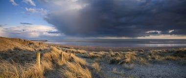 Coucher du soleil du Sussex Photographie stock libre de droits