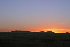 Coucher du soleil du Texas Photographie stock