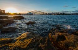 Coucher du soleil du théatre de l'opéra. Photos libres de droits
