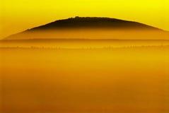 Coucher du soleil du Thabor de bâti photographie stock
