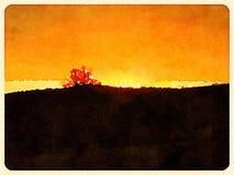 Coucher du soleil du Vermont Photos stock