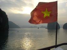 Coucher du soleil du Vietnam Photos stock