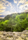 Coucher du soleil du Wisconsin photographie stock
