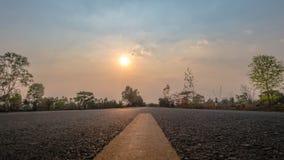 Coucher du soleil en été Image stock