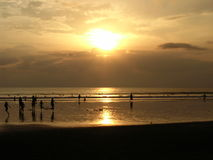 Coucher du soleil en île de Dieu Photo stock