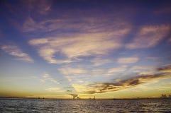Coucher du soleil en île de Sanibel photographie stock