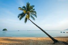 Coucher du soleil en île de Tioman, Malaisie Images stock