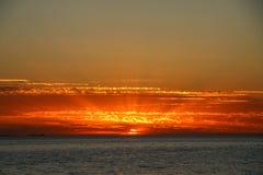 Coucher du soleil en Australie images libres de droits