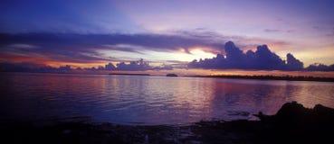 Coucher du soleil en Bahamas Images libres de droits