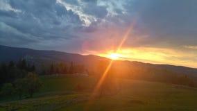 Coucher du soleil en Bosnie Photos stock