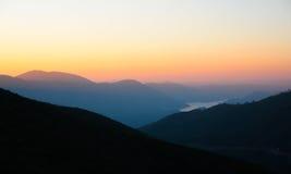 Coucher du soleil en Californie Photos libres de droits