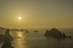 Coucher du soleil en Cantabrie Images libres de droits