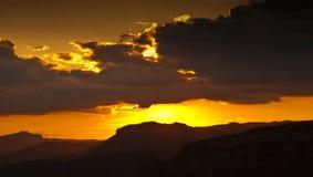 Coucher du soleil en Catalogne Photos libres de droits