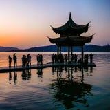 Coucher du soleil en Chine Photo libre de droits